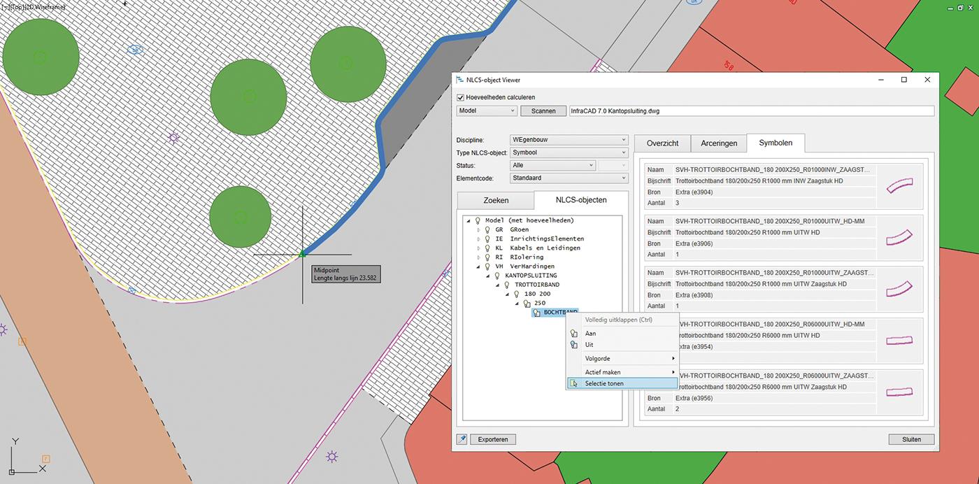 InfraCAD 7.0 zet extra in op NLCS