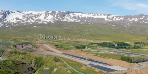 IJslands dragracecircuit krijgt strak nieuw wegdek